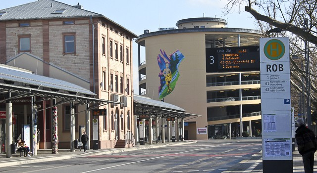 Mural at Central Station, Aschaffenburg